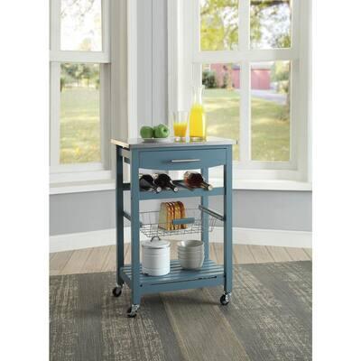 Todd Blue Kitchen Cart