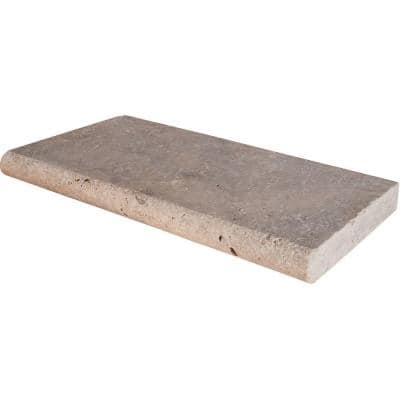 16 in. x 24 in. Tumbled Silver Travertine Pool Coping (40-Piece/106.8 sq. ft./Pallet)