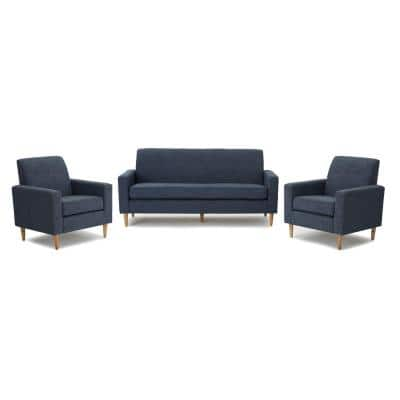 Sawyer 3-Piece Dark Blue Living Room Sets