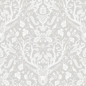 Kiwassa Taupe Antler Damask Paper Strippable Roll (Covers 56.4 sq. ft.)