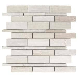 Tranquil Stone 10.5 in. x 10.75 in. Interlocking Mixed Limestone Mosaic Tile (0.783 sq. ft./Each)