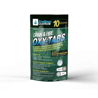 Oxy-Tabs Drain and Pipe Build-Up Remover and Cleaner - 10 Applications