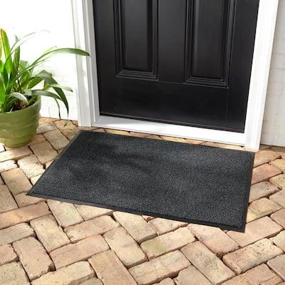 Super Scraper 24 in. x 36 in. Charcoal Door Mat