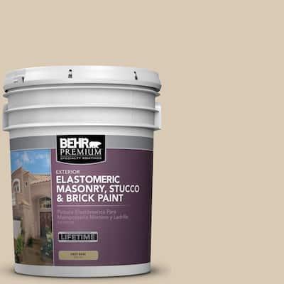 5 gal. #MS-41 Sandstone Beige Elastomeric Masonry, Stucco and Brick Exterior Paint