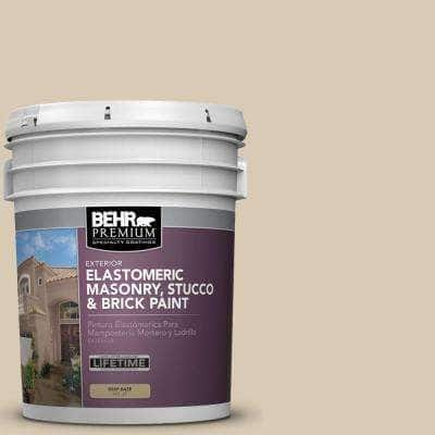 5 gal. #MS-41 Sandstone Beige Elastomeric Masonry, Stucco and Brick Exterior Paint