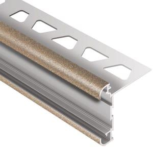 Rondec-CT Beige Textured Color-Coated Aluminum 3/8 in. x 8 ft. 2-1/2 in. Metal Double-Rail Bullnose Tile Edging Trim