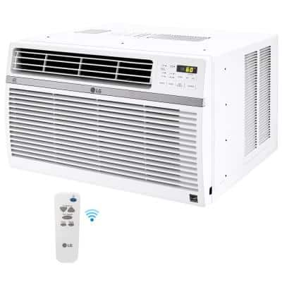 12,000 BTU 115-Volt Window Air Conditioner LW1217ERSM with WiFi, ENERGY STAR and Remote in White