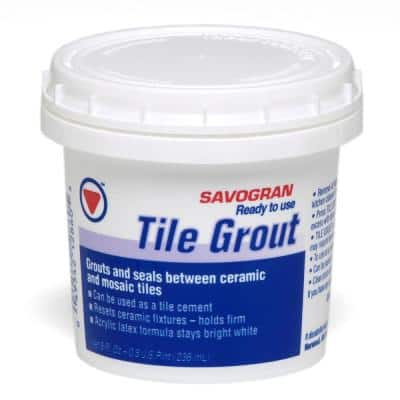 12860 .5 Pt White Grout Ready To Use