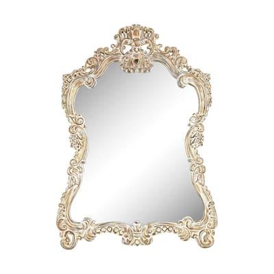 Large Arch Belgian Cream Classic Mirror (45 in. H x 30 in. W)