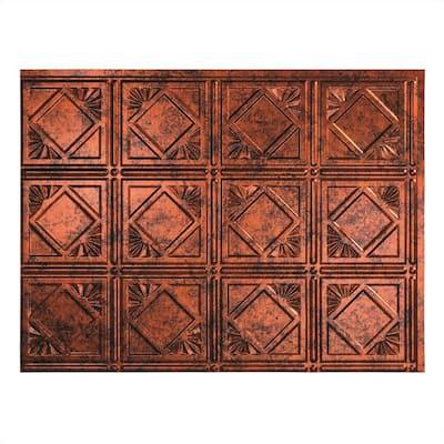 18 in. x 24 in. Traditional # 4 Vinyl Backsplash Panel in Moonstone Copper (Pack of 5)