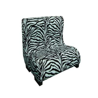 23 in. H Plush Zebra Tufted Upholstery Pet Furniture