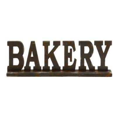 """23 in. x 8 in. Kitchen Whimsy """"BAKERY"""" Table Wood Sign"""