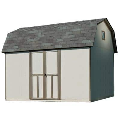 Briarwood 12 ft. x 8 ft. Wood Storage Shed with Floor