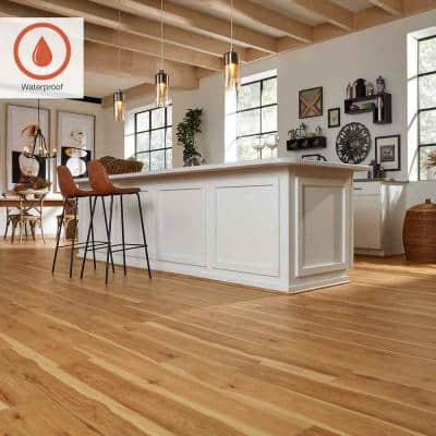 Outlast+ 6.14 in. W Arden Blonde Hickory Waterproof Laminate Wood Flooring (451.36 sq. ft./pallet)
