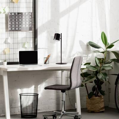Banner 18 in. Matte Black LED Integrated Table Lamp