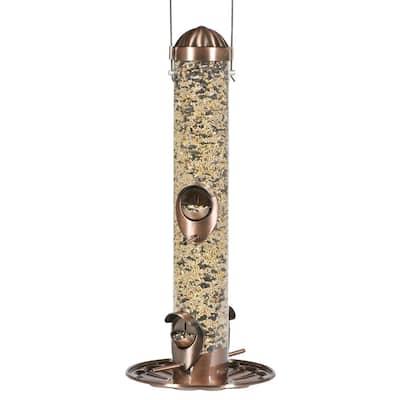 2-in-1 Copper Hanging Bird Feeder - 1 lb. Capacity