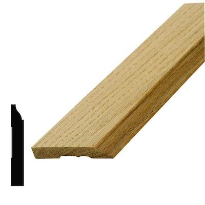 WM 62309 1/2 in. x 3-1/4 in. x 96 in. Wood Red Oak Base Moulding