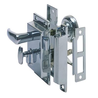 Regular-Bevel Rim Lock Set with Box Strike
