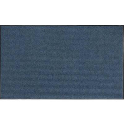 Apache Rib Williamsburg Blue 3 Ft. x 5 Ft. Commercial Door Mat