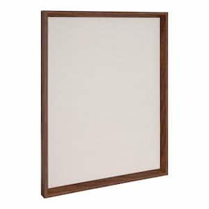 Calter Walnut Brown Fabric Pinboard Memo Board