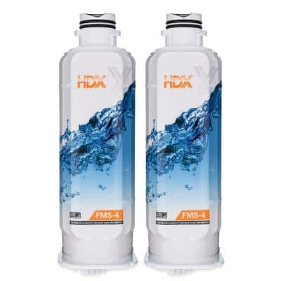 FMS-4 Premium Refrigerator Water Filter Replacement Fits Samsung HAF-QIN/EXP (2-Pack)