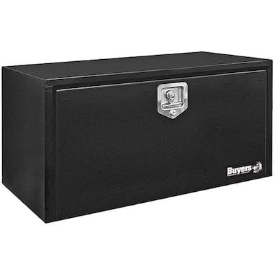 14 in. x 16 in. x 36 in. Gloss Black Steel Underbody Truck Tool Box
