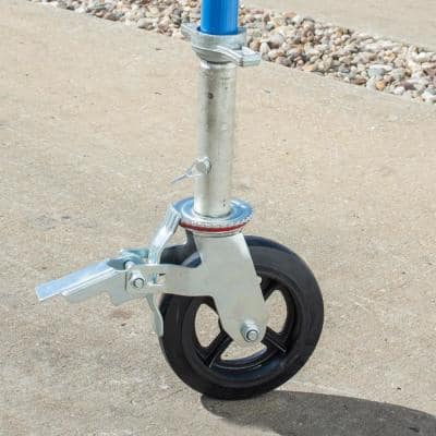 8 in. Caster with Foot Brake 2000 lb. Load Capacity