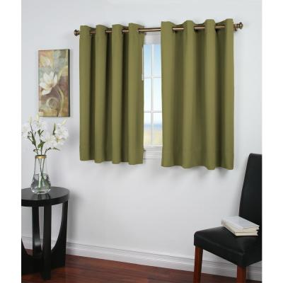 Sage Grommet Blackout Curtain - 56 in. W x 36 in. L