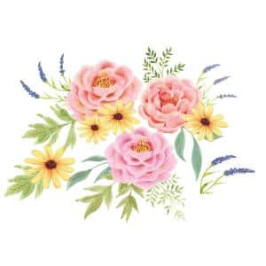 Pretty Peonies Pink Wall Decal