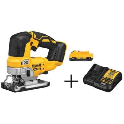 20-Volt MAX XR Cordless Brushless Jigsaw with (1) 20-Volt Battery 3.0Ah & Charger
