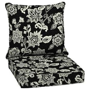 Leala Texture 24 in. x 24 in. 2-Piece Deep Seating Outdoor Lounge Chair Cushion in Ashland Jacobean