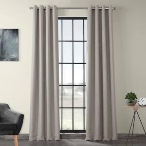 Clay Faux Linen Grommet Blackout Curtain - 50 in. W x 84 in. L