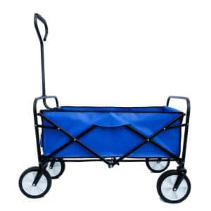Belle Garden Shopping Folding Wagon Beach Cart in Blue