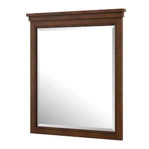 Jamerson 28 in. W x 32 in. H Framed Rectangular Bathroom Vanity Mirror in Walnut