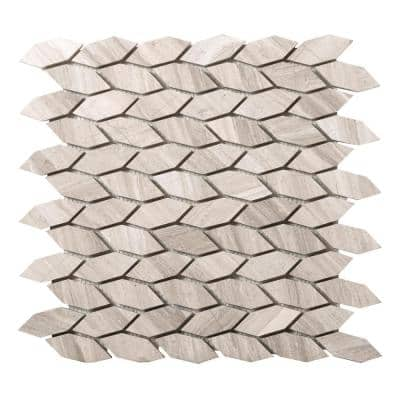 Metro Cream Marquise 12 in. x 12 in. x 10 mm Limestone Mosaic Tile (1.01 sq. ft.)