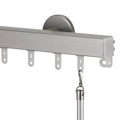 Nexgen Non-Telescoping 132 in. Aluminum Traverse Rod in Antique Silver