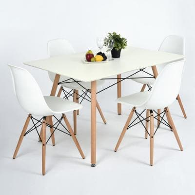 Bowlin 26 in. A Upholstered Dining Chair White (Set of 4)