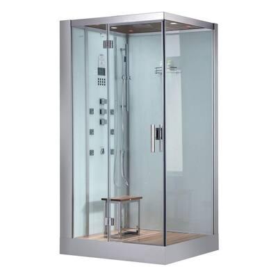 47 in. x 35.4 in. x 89.1 in. Steam Shower Enclosure Kit in White