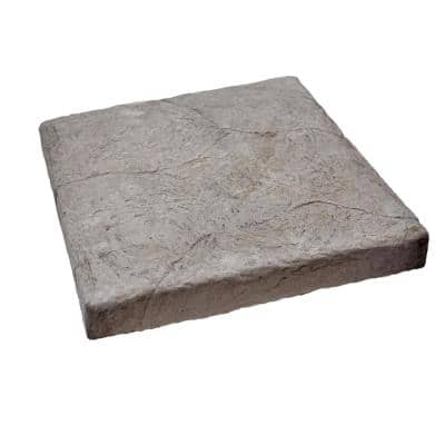 Easy Stack 19-1/4 in. x 19-1/4 in. x 1-1/2 in Gray Manufactured Concrete Hearth/Cap Stone