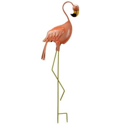 33.5 in. Spring Decor Standing Flamingo Garden Statues