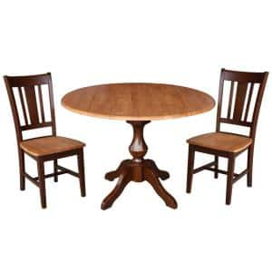 International Concepts Olivia 3 Piece Black And Cherry 42 In Dropleaf Table And San Remo Side Chair Dining Set K57 42dpt 27b C10 2 The Home Depot