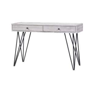 Aspen Court II 47 in. Light Gray Standard Rectangle Wood Console Table with 2-Drawers