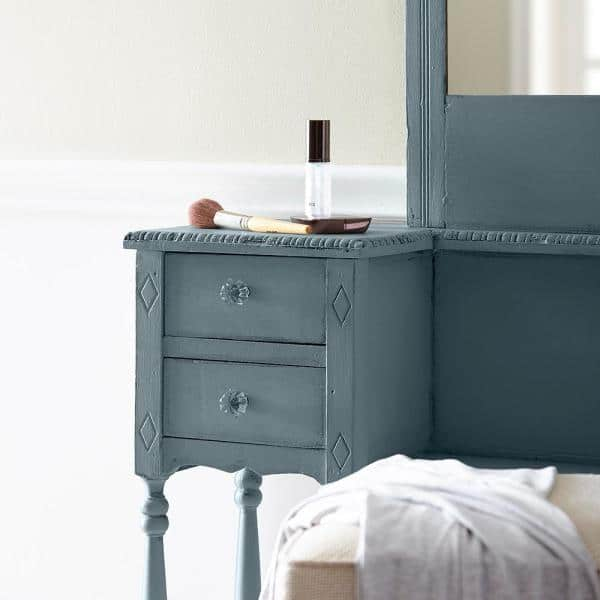 Behr 1 Qt Bcp44 Onyx Gray Interior, Grey Chalky Furniture Paint
