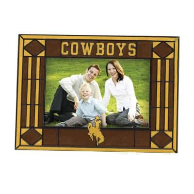 NCAA 4 in. x 6 in. Gloss Multicolor Art Glass Wyoming Picture Frame