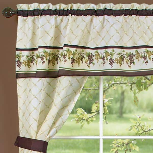 Achim Tuscany Multi Color Polyester, Tuscany Kitchen Curtains