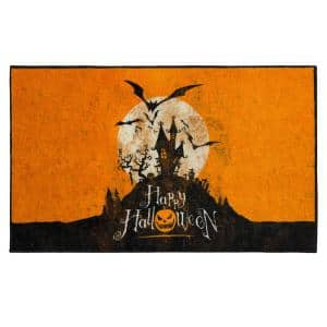 Halloween Hill Orange 2 ft. x 3 ft. 4 in. Holiday Area Rug