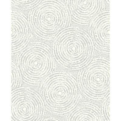 Ripple Grey Shibori Paper Strippable Roll (Covers 56.4 sq. ft.)