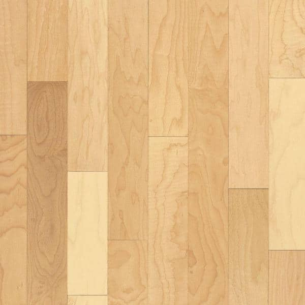 Bruce Prestige Natural Maple 3 4 In Thick X 3 1 4 In Wide X Varying Length Solid Hardwood Flooring 22 Sq Ft Case Cm3700 The Home Depot