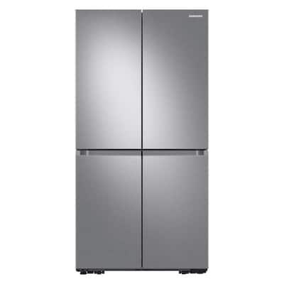 23 cu. ft. 4-Door Flex Food Showcase French Door Refrigerator in Stainless Steel, Counter Depth