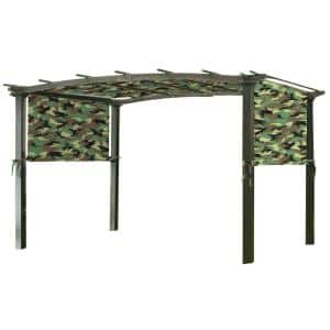 Universal Replacement Canopy Top Cover in Camo Green for Metal Pergola Frame